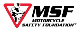 Logo for the MSF Motorcycle Safety Foundation, who runs the BRC Basic RiderCourse