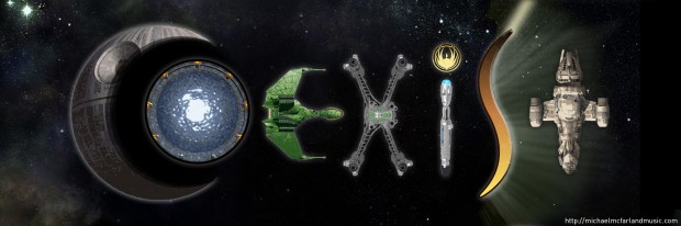 High Resolution Sci-Fi Coexist bumper sticker by Michael McFarland - shared by George Takei!
