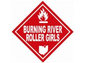 Burning River Roller Girls Logo - Current