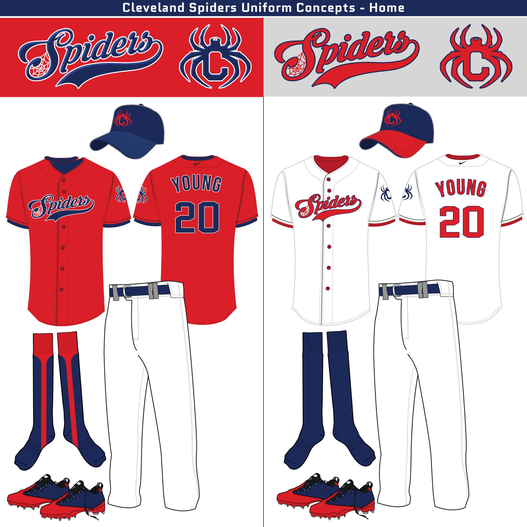 Cleveland Spiders Uniform Design